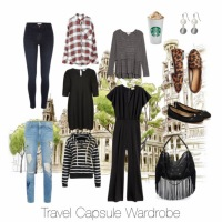 Travel Capsule Wardrobe: 9 Outfits
