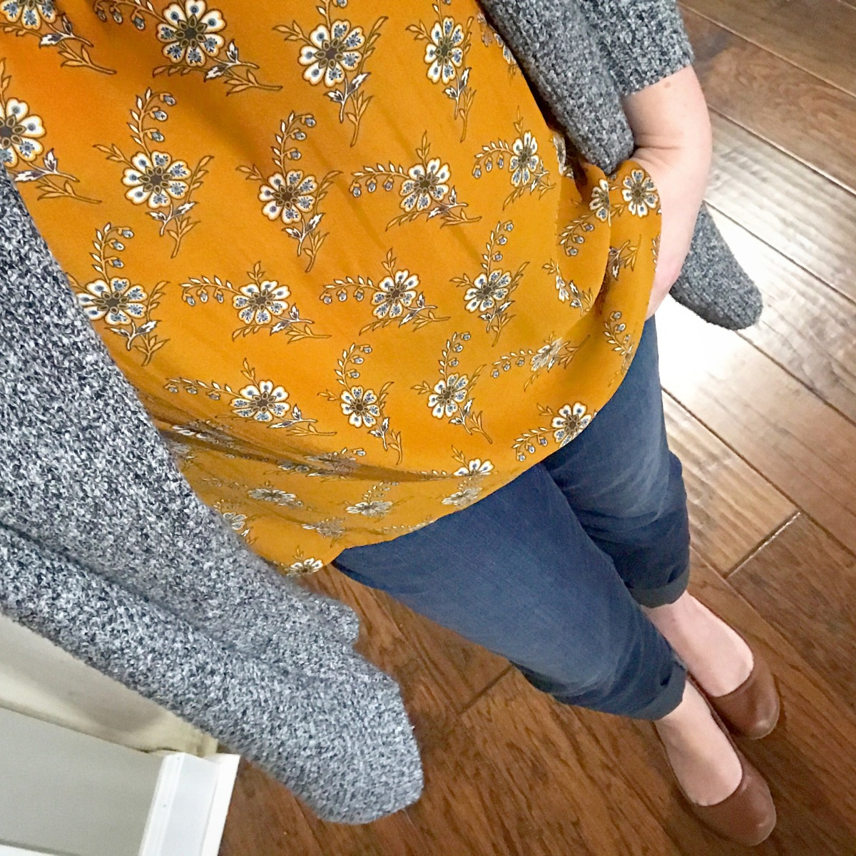 Mustard and Grey #ootd