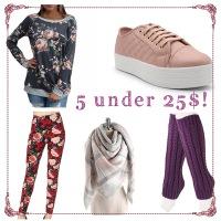 5 Under 25$!