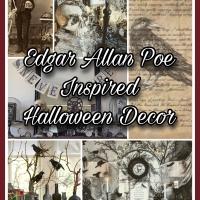 Edgar Allan Poe Inspired Halloween Decor as found on Pinterest